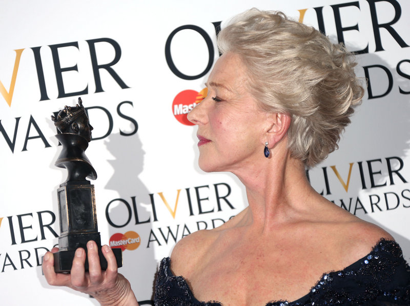 Helen Mirren with her award.