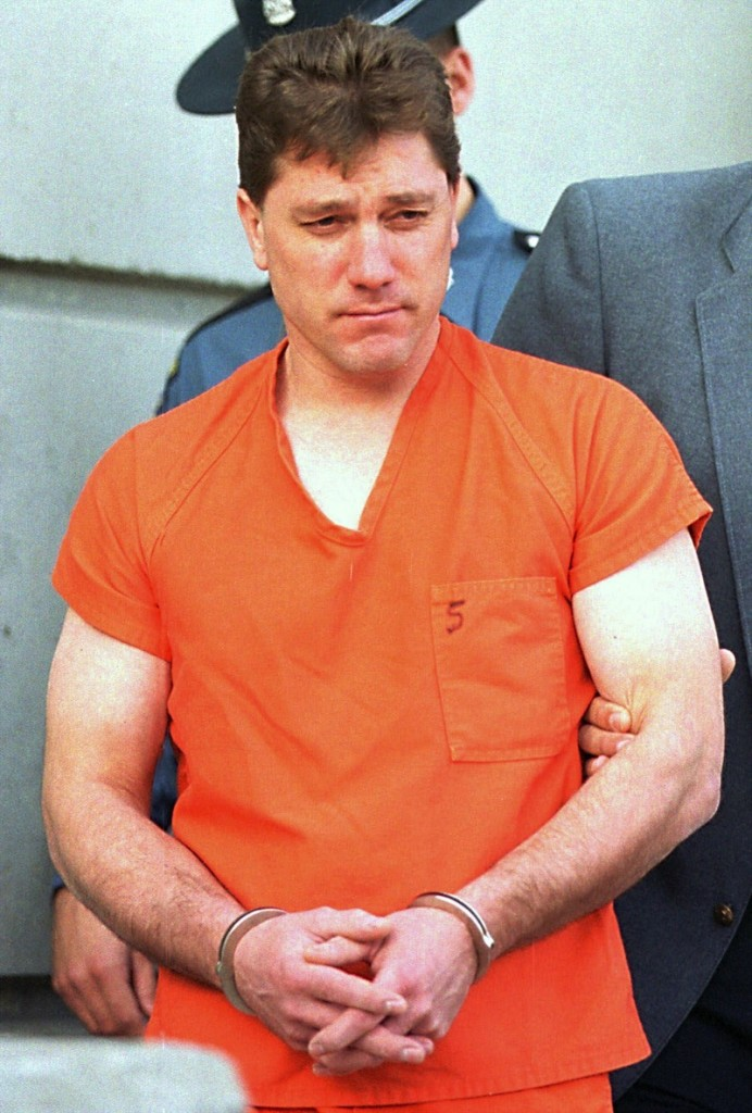 In this December 1999 file photo, Jeffrey Cookson, 36, is led from Penobscot County Jail in Bangor, Maine. Cookson's lawyer asked the Main Supreme Judicial Court on Wednesday, May 15, 2013 for a DNA test, which he says could help exonerate him. (AP Photo/Michael C. York) Michael C. York Mindy Gould Jeffrey Cookson Murder domestic violence