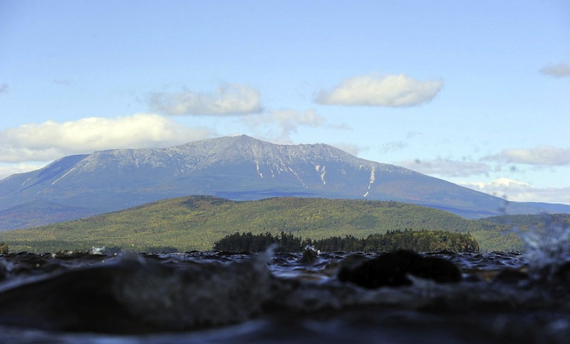 In this September 2012 photo, a view of Mount Katahdin from the shores of Lake Millinocket. Maj. David Cote hopes to honor the 46 Mainers who have died in the war on terror with engraved rocks atop the state's tallest mountain.