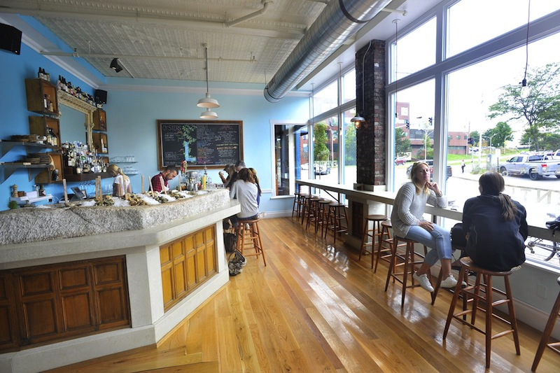Eventide Oyster Co., pictured here, is teaming up with Bunker Brewing to produce a new brew.