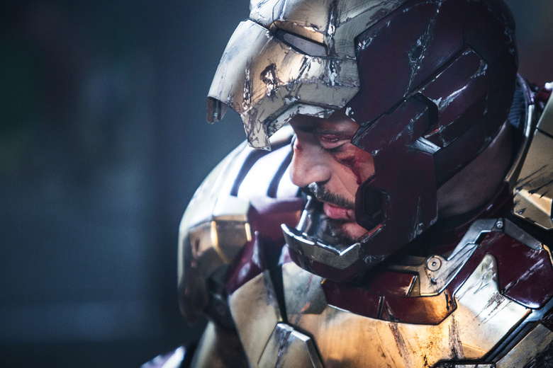 Robert Downey Jr. plays Tony Stark/Iron Man in a scene from Marvel's