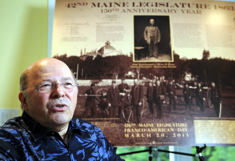 Paul Lessard will present a history of his maternal great-great-grandfather, Olivier R. Sirois, who served in the Maine Legislature during the Civil War, on Franco-American Day at the Legislature on Tuesday. Sirois introduced legislation to fund an English-speaking public school for Madawaska.