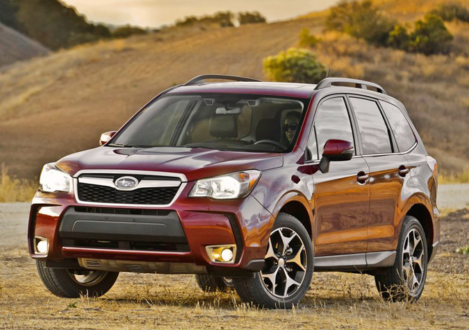 The 2014 Subaru Forester, shown here, and Mitsubishi Outlander Sport each received the
