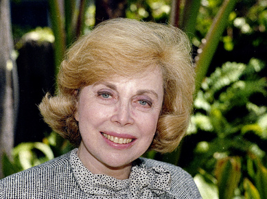 Dr. Joyce Brothers close up,Smile, Psychologist, doctor,