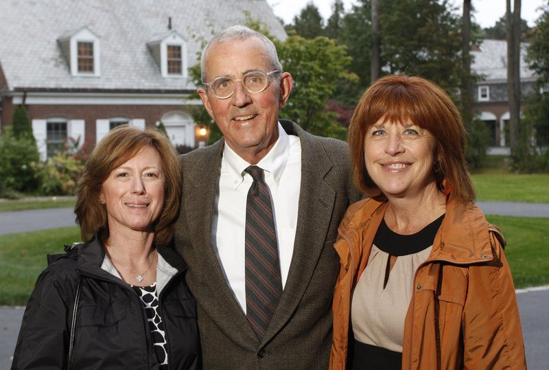 In this September 2010 file photo, Lisa and Leon Gorman, left, along with Michele Johns. orman, who led L.L. Bean for more than four decades and oversaw its transformation into Maine's most recognized brand, stepped down as chairman of the company Monday.