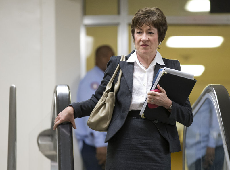 Sen. Susan Collins, R-Maine, is pushing a proposal that would give the White House more flexibility to work with Congress to approve targeted spending cuts.
