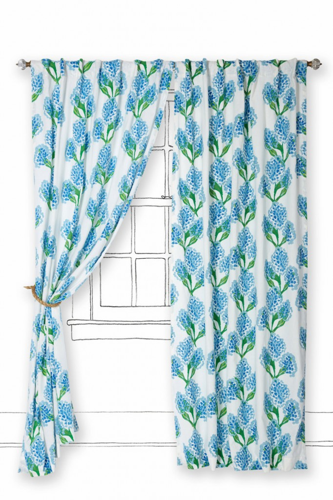 Hyacinth flowers repeat on the Speckled Blooms curtain from Anthropologie.com.