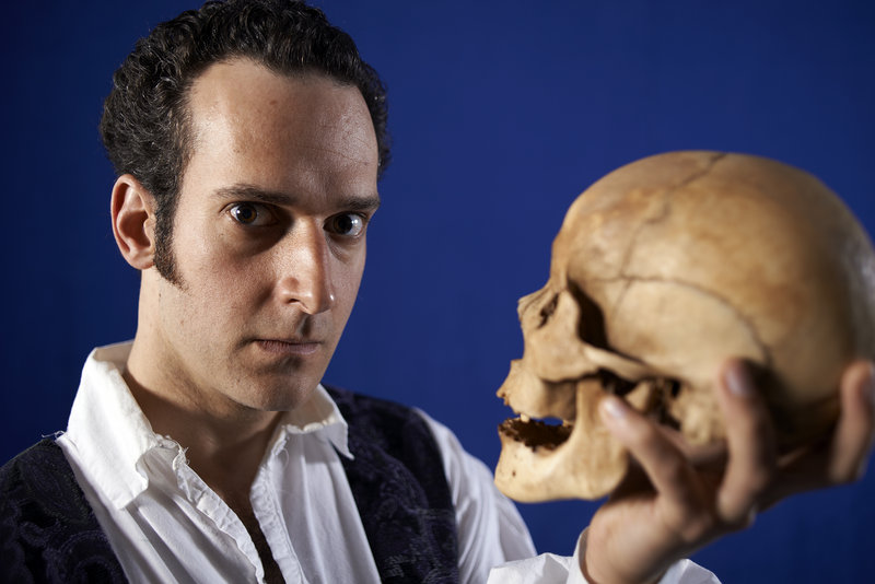 """In """"Wittenberg,"""" at Portland Stage Co. through May 19, Rob McFadyen, top, plays Hamlet as a student."""
