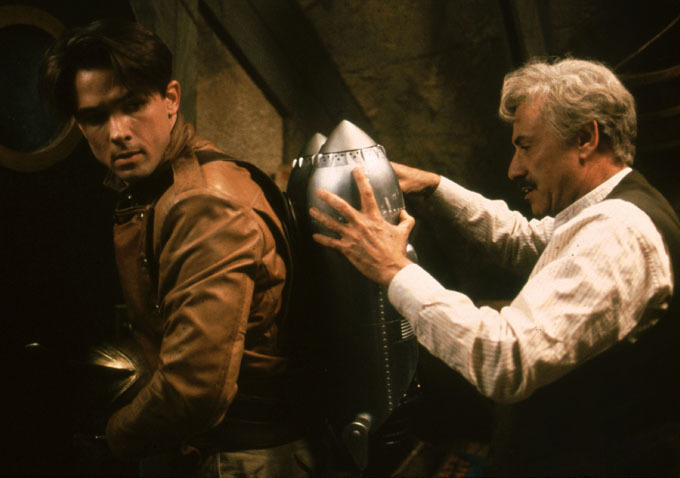 """Billy Campbell and Alan Arkin in """"The Rocketeer"""" (1991), the first of the contemporary superhero movies."""