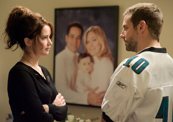 """Jennifer Lawrence, who won the Best Actress Oscar for her role, and Bradley Cooper in """"Silver Linings Playbook."""""""