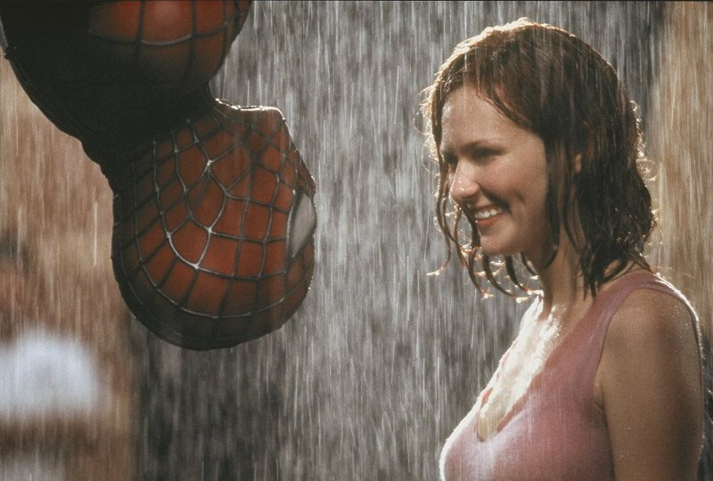 """Tobey Maguire and Kirsten Dunst in """"Spider-Man"""" (2002), a superhero story told well on screen."""