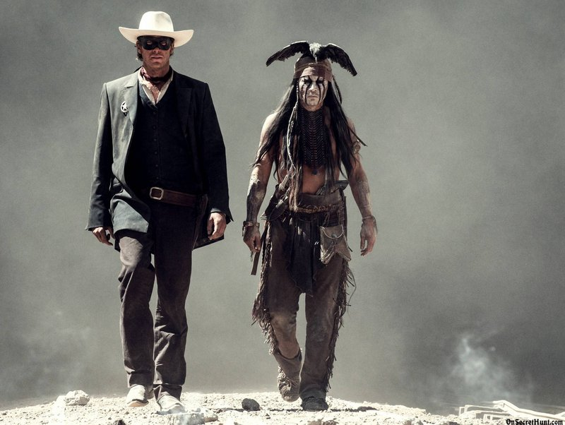 """Armie Hammer, left, and Johnny Depp in """"The Lone Ranger,"""" opening July 5."""