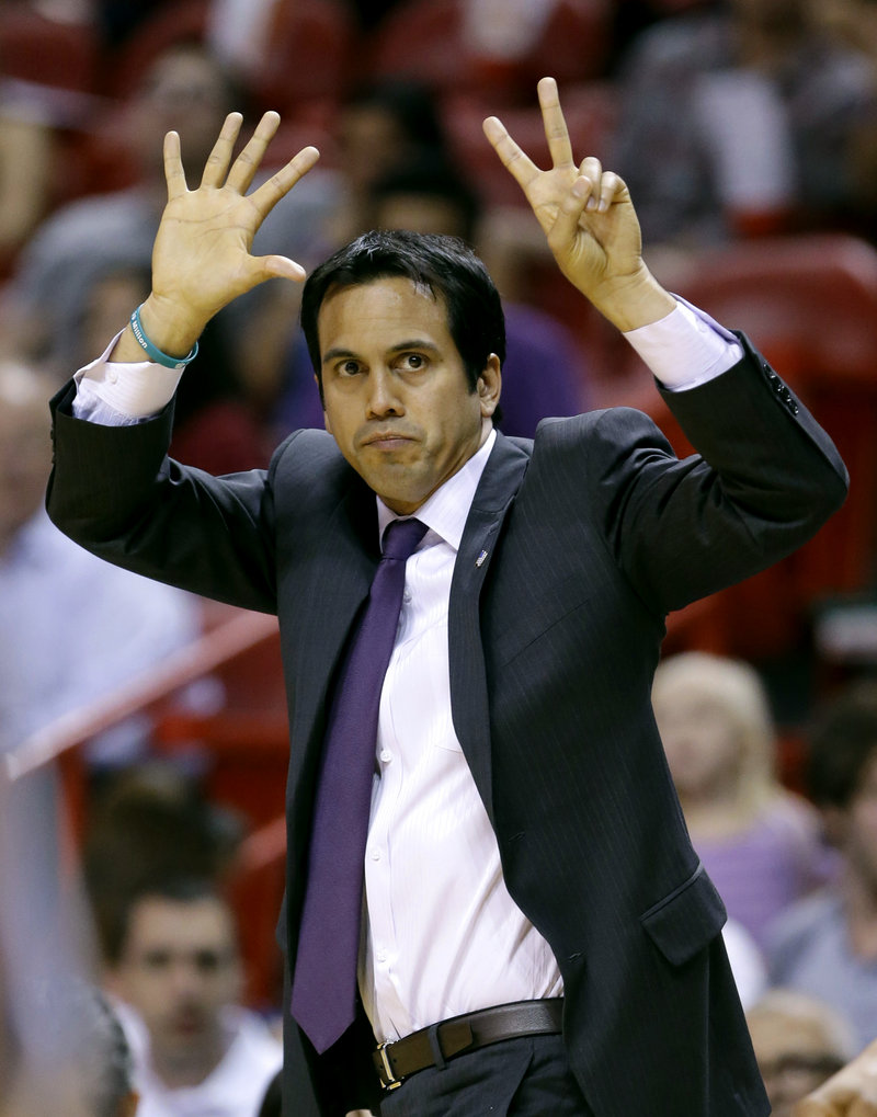 Erik Spoelstra has the Miami Heat closing in on a repeat NBA championship. And he's doing it not just because of the talent, but because he's always looking for that little edge.