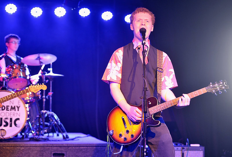 Lead vocalist and guitarist Scott Ralston belts out an original tune in the MAMM Slam teen band competition.