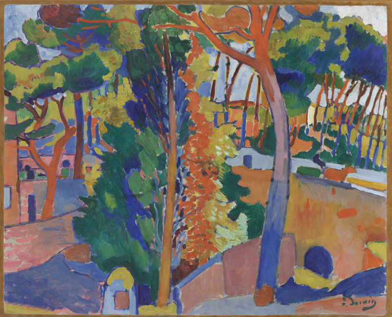 """""""Bridge over the Riou,"""" oil on canvas by Andre Derain, 1906"""