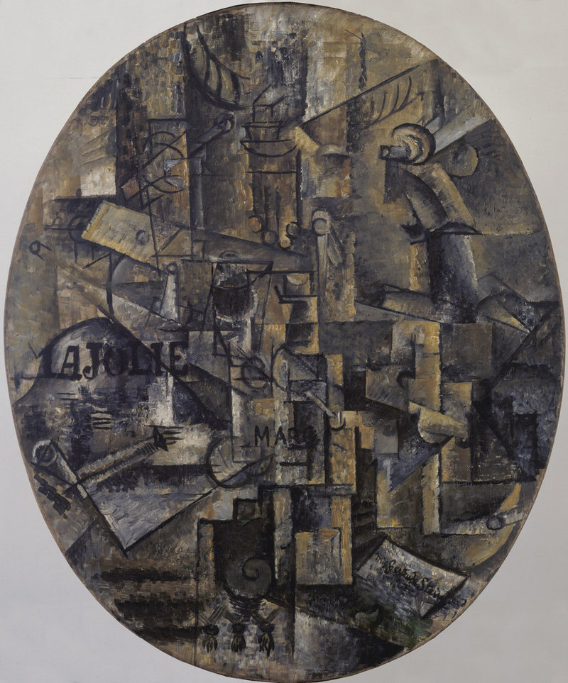 """""""The Architect's Table,"""" oil on canvas mounted on panel by Pablo Picasso, 1912"""