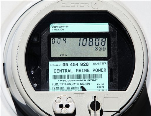 """A CMP """"smart meter"""" displays electricity usage at a business in Freeport in 2010. CMP is asking the state to approve a rate plan that would add roughly $2 a month to the average home bill. The rate increase would take effect in 2014."""