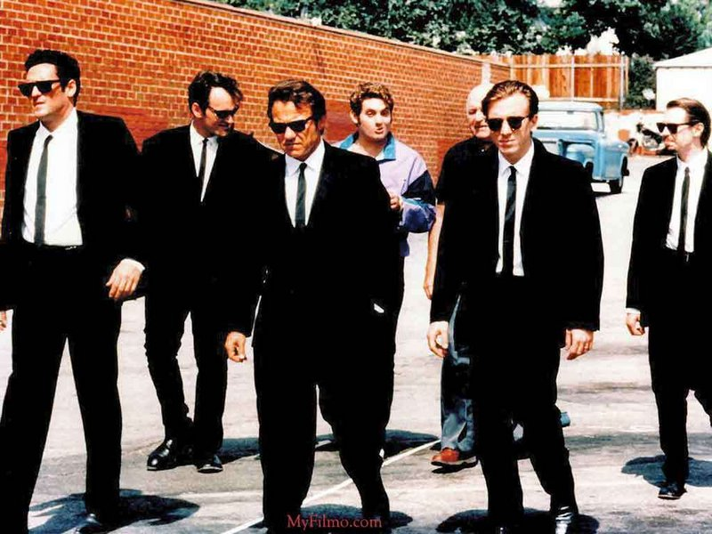 """""""Reservoir Dogs,"""" starring Harvey Keitel, center, launched the careers and frequent partnership of director Quentin Tarantino and producer Lawrence Bender."""