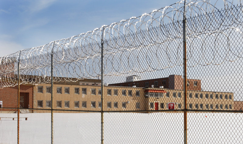 Photo shows the security building at the Maine Correctional Center in Windham. Corrections Commissioner Joseph Ponte says the compound is inefficient after decades of expansion.