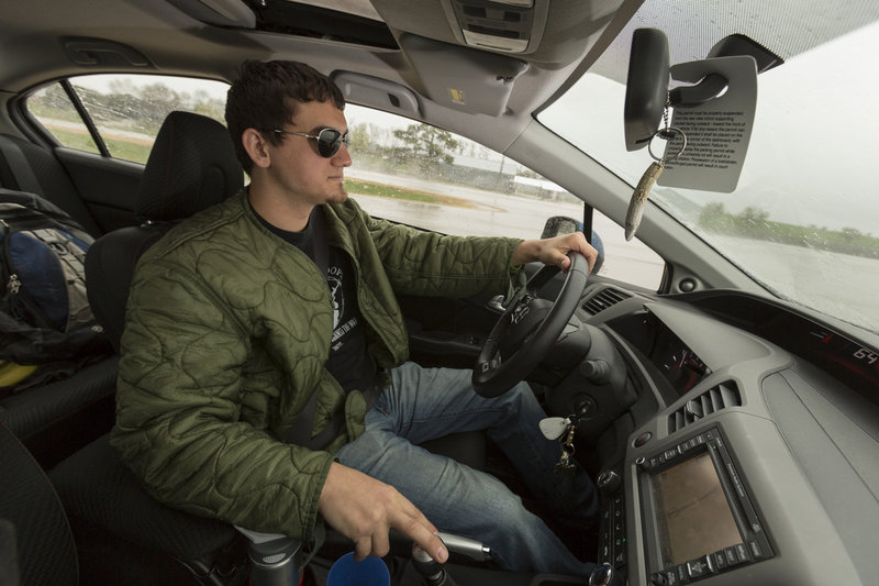 Iraq war veteran Steven Acheson spent 11 months driving a colonel around the Sadr City district of Baghdad in an armored Humvee in 2006. While he escaped injury in Iraq, Acheson says he suffers from panic attacks behind the wheel when he drives at home around Platteville, Wis.