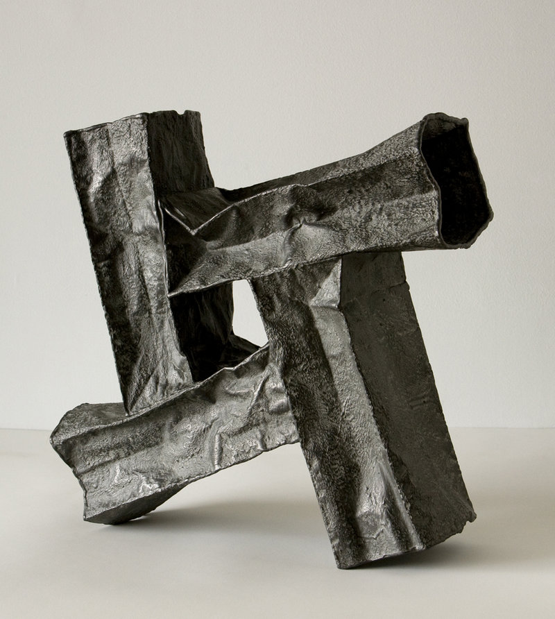"""""""Dynamic Composition II,"""" 2012 by James Marshall, graphite, plaster and polyvinyl acetate on paper"""