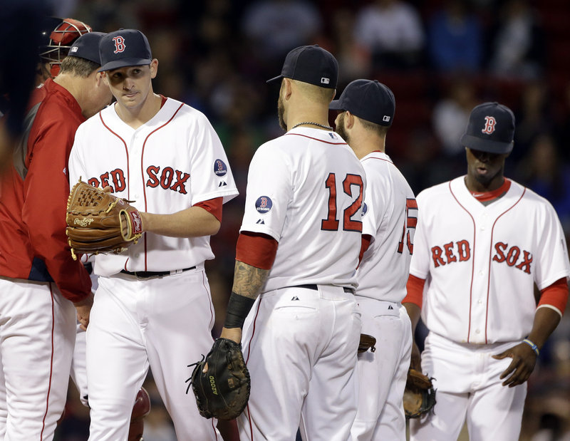 Allen Webster, making his second career start for the Red Sox, failed to make it out of the second inning Wednesday night, allowing eight runs on six hits and three walks in a 15-8 loss to the Minnesota Twins.