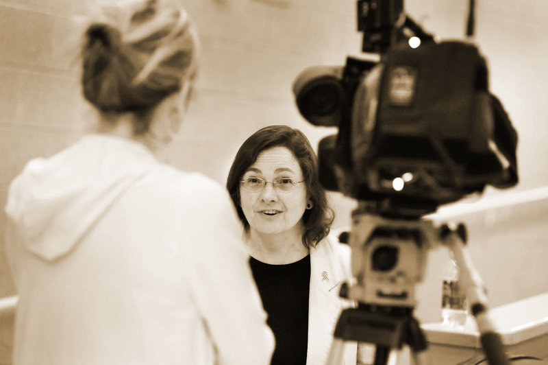 """Lyme disease specialist Dr. Bea Szantyr, shown in front of the camera, will give a """"Tick Talk"""" on Thursday."""