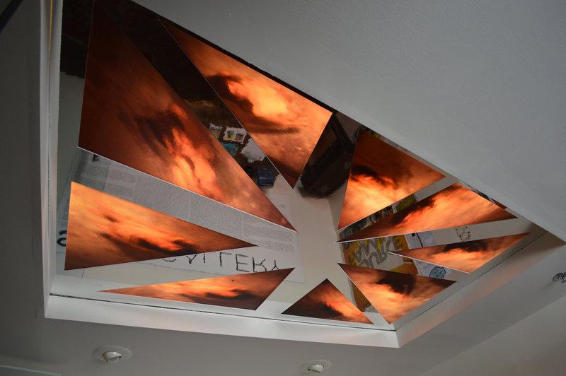 Scott Peterman's arresting image in the ceiling