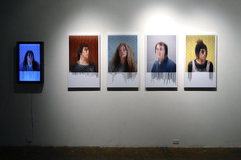 Ben DeHaan's altered photographic portraits.