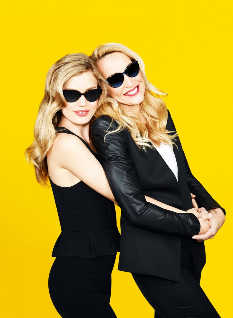 Georgia May Jagger, left, and Jerry Hall pose for Sunglass Hut.