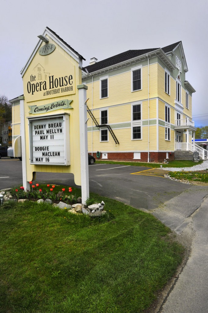 The Opera House at Boothbay Harbor today after a decade of restoration work.