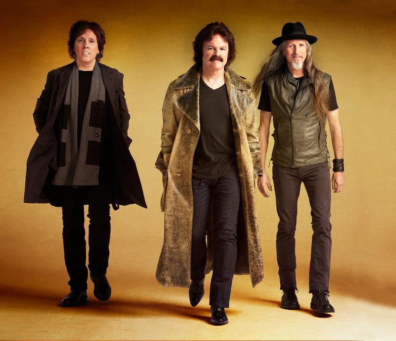 The Doobie Brothers, from left, John McFee, Tom Johnston and Pat Simmons, will play the Hampton Beach Casino Ballroom on July 16.