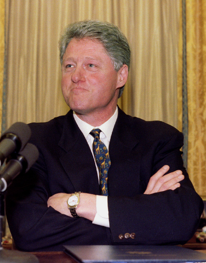 President Bill Clinton's administration leaned on the Heritage Foundation and the NRA.