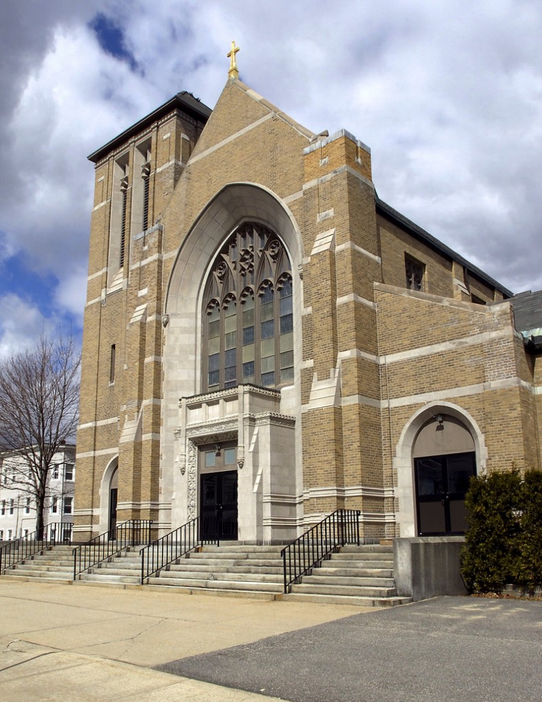 St. Mary Church in Biddeford is one of the many Catholic Church properties up for sale in Maine.