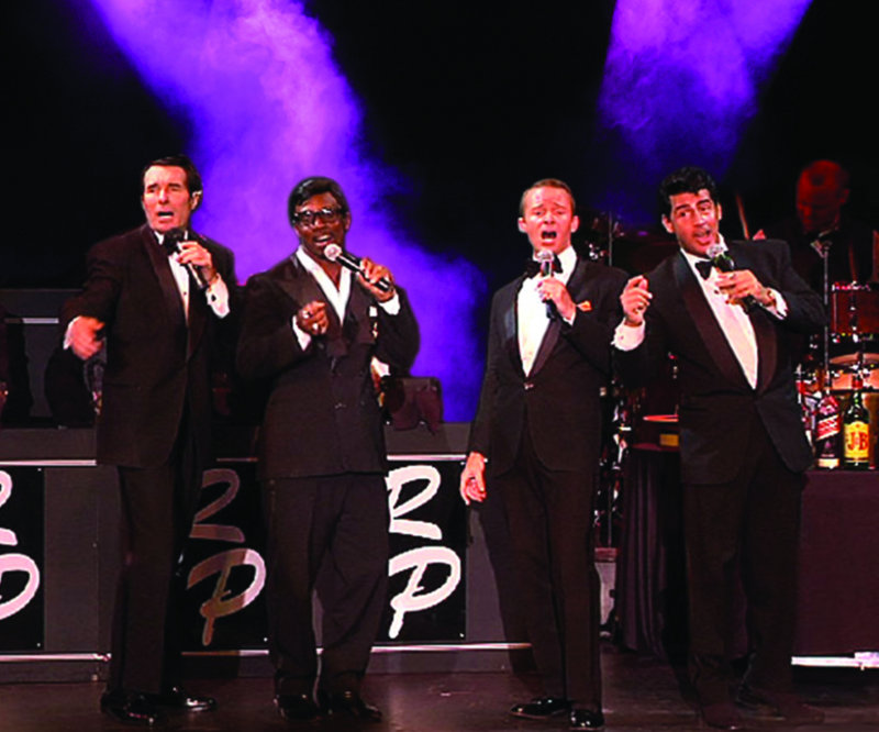 """The Rat Pack harmonizes in """"The Rat Pack is Back!"""", which opens Thursday at the Ogunquit Playhouse."""