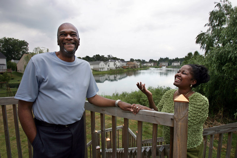 Lawrence Jackson, with his wife, Cynthia Nichols-Jackson, of Belleville, Mich., jokes that he'd never leave his beloved wife because her retirement nest egg is bigger. He used retirement savings to pay bills when he was out of work. Like many baby boomers, retirement is an uncertain proposition for them.