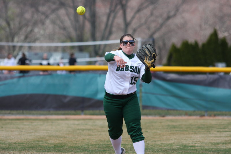 Catie Funk leaves Babson as the program's all-time leader with a .438 average, hitting 33 homers, 166 RBI and 417 total bases.