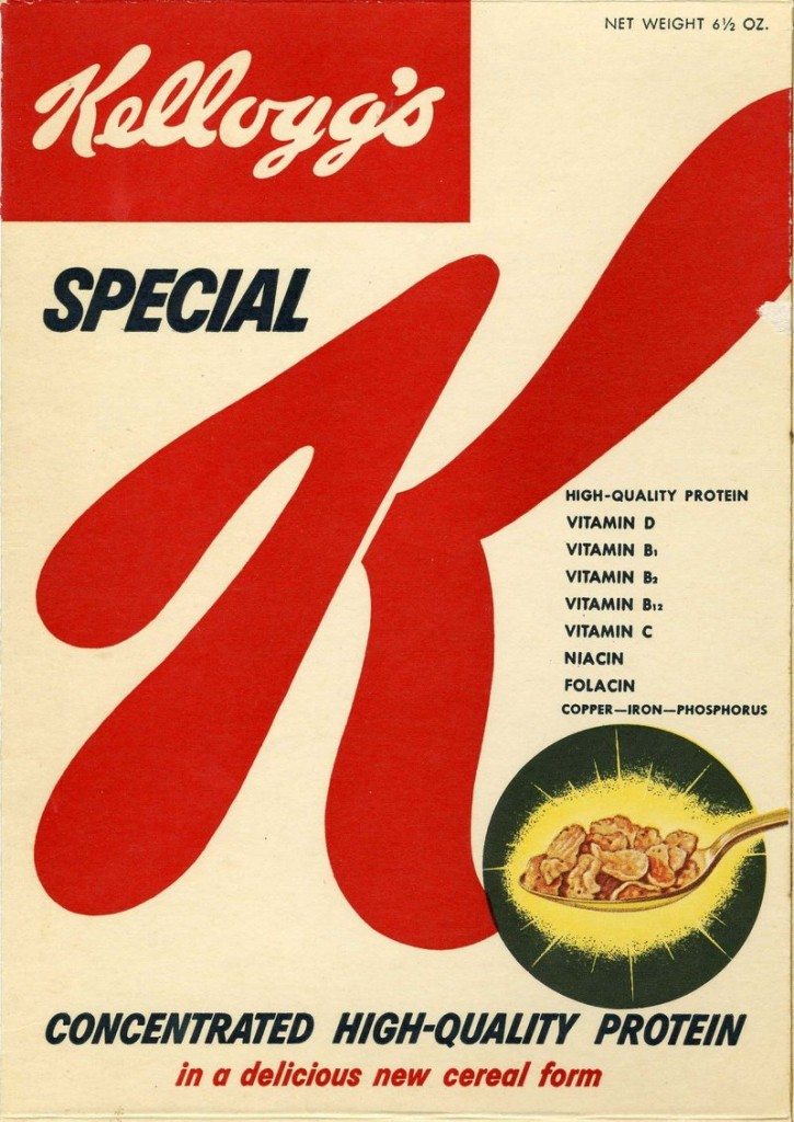 Image provided by Kellogg's shows Special K when it was introduced as a no-frills breakfast alternative in 1955.