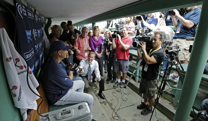 Yes, there was a game. But the focus Thursday night at Fenway Park was on Terry Francona. That's Cleveland Manager Terry Francona. Former Red Sox manager Terry Francona.