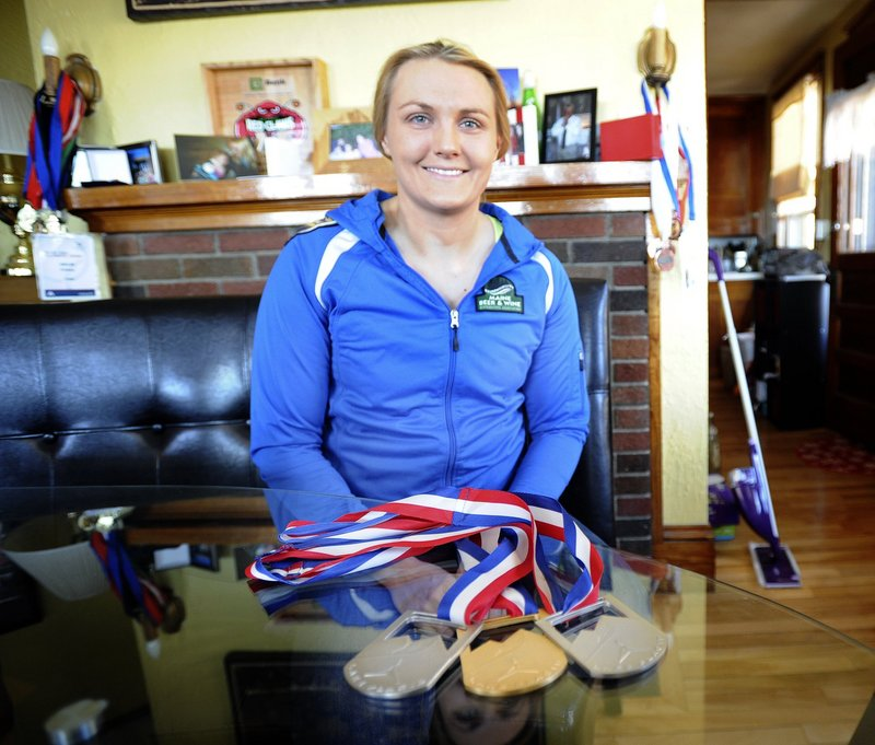 """Julia Clukey returns to her home in Augusta in the off-season. """"Maine made me the kind of person I am as an athlete,"""" said Clukey."""