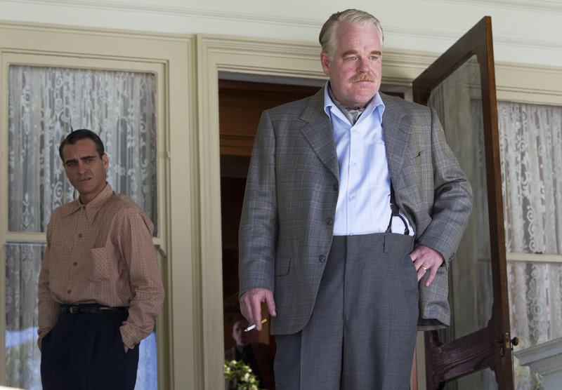 "Philip Seymour Hoffman, shown in ""The Master"" with Joaquin Phoenix, is back at work after detoxing."