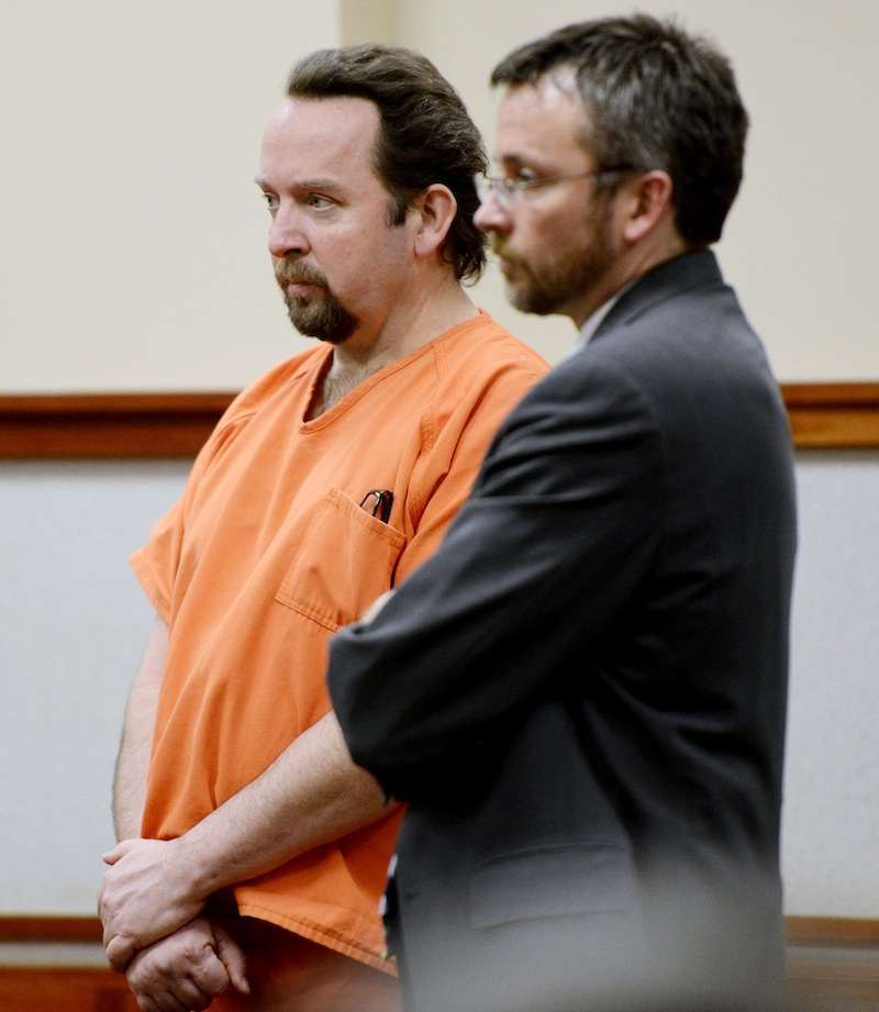 In this March 25, 2013 file photo, Michael Femling, left. Femling, a former Westbrook man who installed hidden video cameras in a residence to record unsuspecting teenage girls while they were undressed, was sentenced Monday to two years in jail and eight years probation.