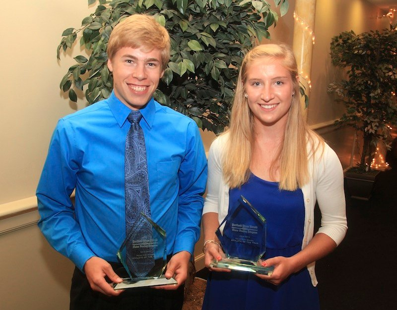 Silas Eastman of Fryeburg and Martha Veroneau of Wayflete were voted Athletes of the Year at the 26th Annual All-Sports Awards Çeremony held at the Italian Heritage Center in Portland on Sunday, June 16, 2013. Both Eastman and Veroneau are stars in multiple sports.