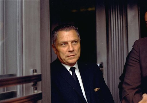 Teamsters Union leader Jimmy Hoffa is shown in Chattanooga, Tenn., in this Aug. 21, 1969, photo.