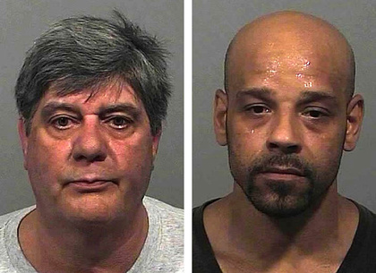 Michael Kusnirak, left, and Orlando Perez were charged with engaging a prostitute in Portland.