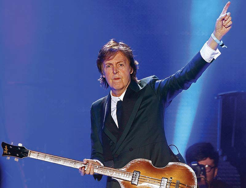 Paul McCartney performs on Day 2 of the 2013 Bonnaroo Music and Arts Festival on Friday at Manchester, Tenn.