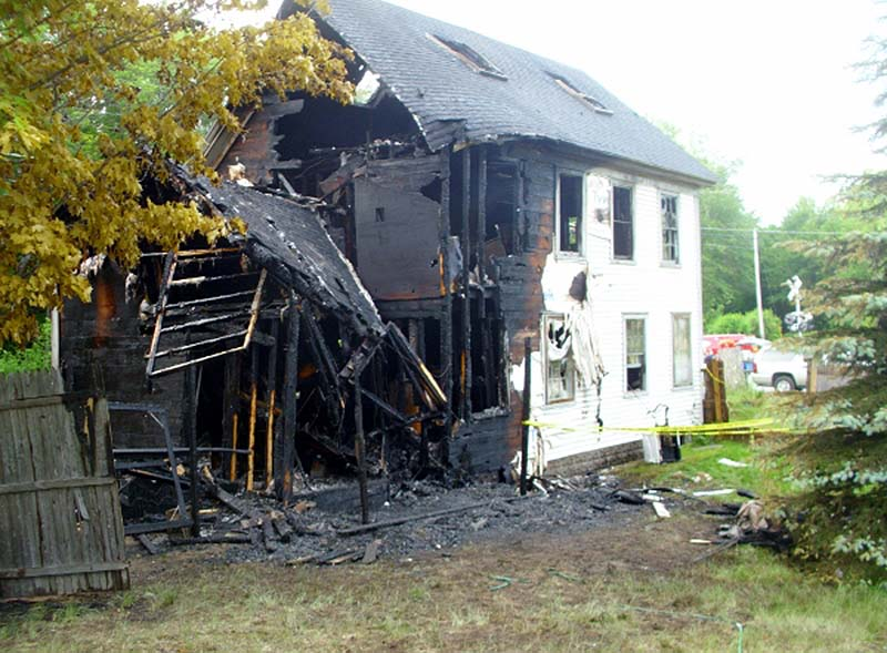 A fire destroyed a two-story home on Campion Road in Lebanon early Saturday morning. No one was home at the time.