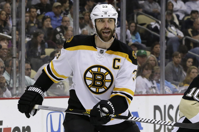The captain: Zdeno Chara leads Boston defensemen with 11 points in the playoffs.