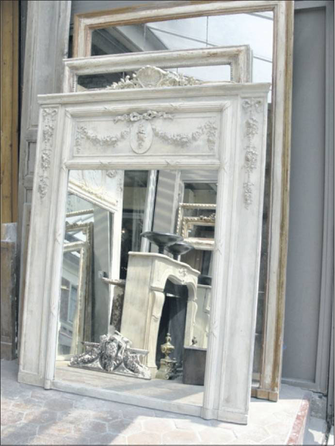 Old frames with exquisite carved detail add a special allure to any room.