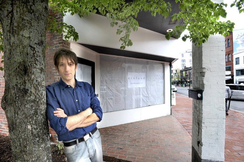 David Levi will be opening a new restaurant called Vinland this fall at 593 Congress St. in Portland. His goal: to help build